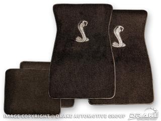 Cobra Snake Floor Mat (Black/Silver)