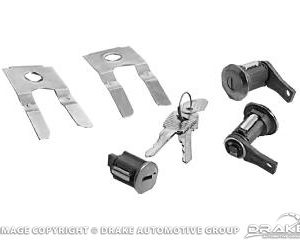 65-66 Door & Ignition Lock Set