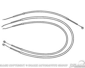 64-66 Heater Control Cables (Heater,Temperature,Defroster)