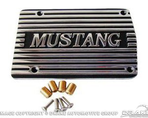 A/C Compressor Cover Mustang (Polished)