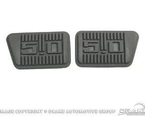 65-68 5.0 Brake & Clutch Pedal Pads (Set)