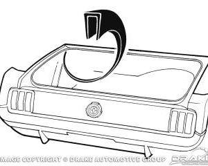 64-68 Trunk Wheel House Seam Cover