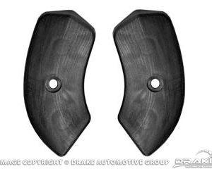 64-67 Seat Hinge Covers (Black)