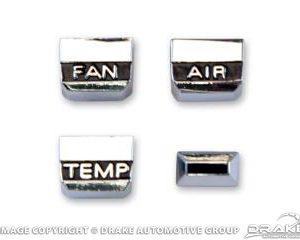 1967 A/C control knob set