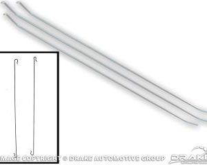 67-68 Fast Back Headliner Bows, 5 pieces