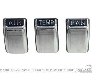 1968 A/C control knob set