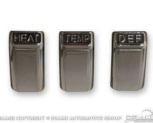 1968 Heater control knob set