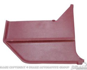 1968 Convertible Kick Panels (Maroon, Pair)