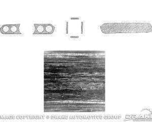 64-5 Dash Panel Applique (11 piece, Rosewood, Standard)