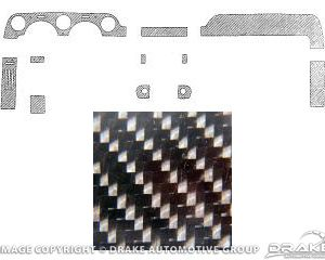 64-5 Dash Panel Applique (11 Piece, Carbon Fiber, Standard)