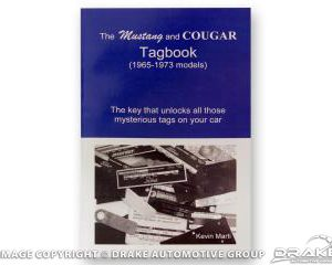 65-73 Mustang tag decoder book