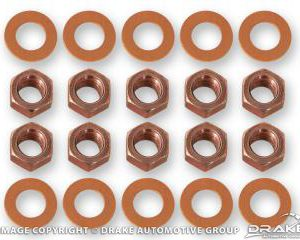 68-73 Differential housing nut/washers, red nuts