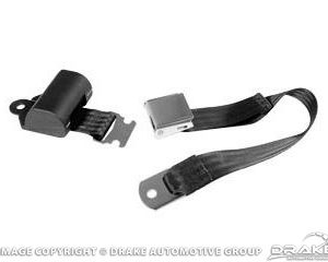 64-73 Aftermarket Seat Belts (Black, Retractable)