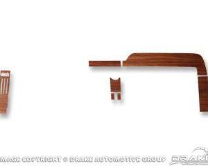68 Woodgrain Dash Panel Inserts (Deluxe, 7 piece)