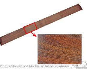 1968 Overhead Console Insert (Wood Grain)