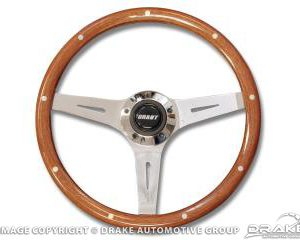 Mahogany wheel w/simul rivets