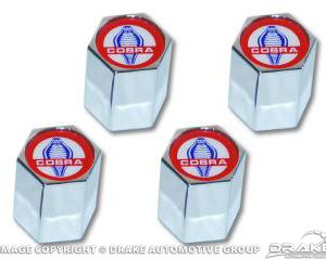 Cobra logo valve cap, set of 4