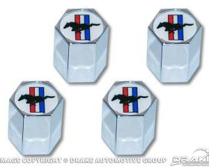 Tri-bar logo valve cap, set 4