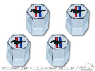 Tri-bar logo valve cap, set 4