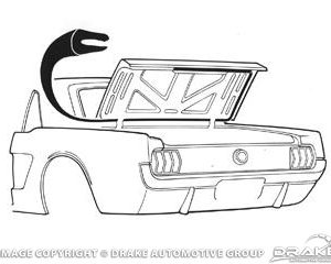 64-70 Coupe/ConvertIble Trunk Seal