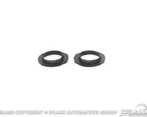 65-73 Coil Spring Insulators (Black Polyurethane)