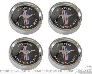 64-66 Styled Steel Hubcaps (Black Background for S/S Plastic Hub Cap)