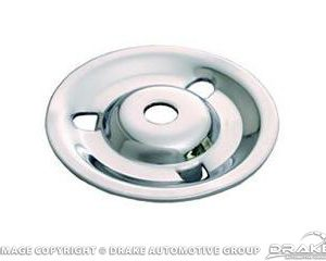 64-67 Styled Steel Wheel Hold Down Plate, Chrome
