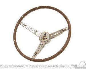 65-6 Deluxe Steering Wheel Assembly (Woodgrain)
