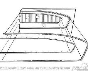 65-66 Pony Door Panel Trim (LH)