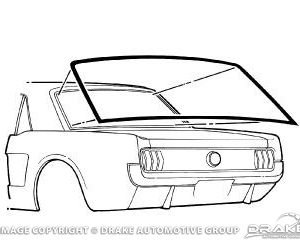 64-68 Coupe Rear Window Seal
