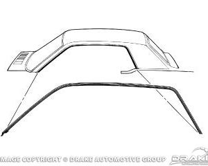 64-66 Coupe Roof Rail Seal. Also fits 67-68 Mercury Cougar