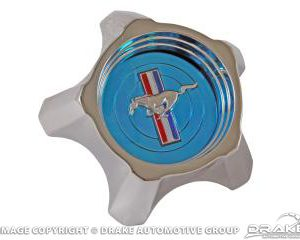 1967 Styled Steel Hub Cap (Blue, Original Design)