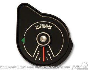 69 Alternator gauge/black