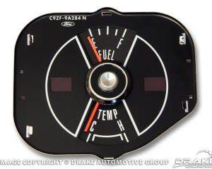 69 Mustang fuel/temp gauge-black