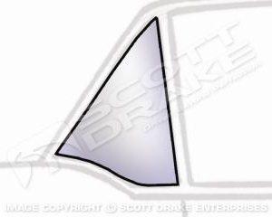64-66 CP RH Quarter Glass, Clear