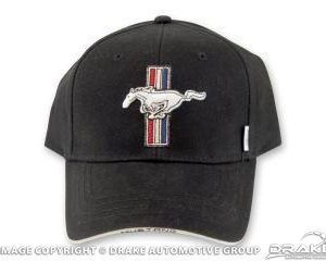 Mustang Tribar Logo Hat (Black)