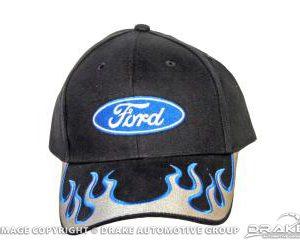 Ford Ball Cap (Silver Blue Flames)
