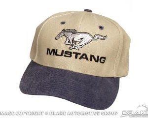 Mustang Hat (Blue & Khaki)