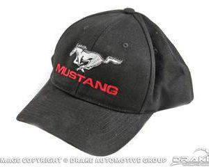 Mustang Cap (Black & Silver)