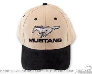 Mustang Hat (Black & Tan)