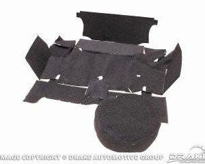 64-66 Trunk Carpet Kit (Coupe, Black)