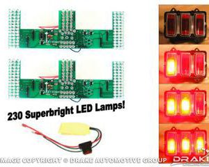1969 Mustang LED Sequential Tail Light Kit (Easy Install)