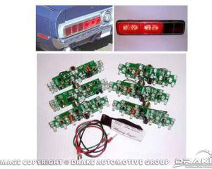 1967-68 Mustang Cal Special/Shelby LED Sequential Tail Light Kit (Easy Install)