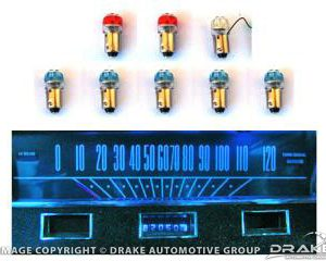 1964-65 Mustang Instrument Panel LED Light Bulb Set (Long Speedometer)