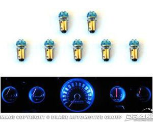 1965-66 Mustang Instrument Panel LED Light Bulb Set (5-Gauge Cluster)