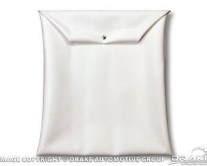 Top boot bag white