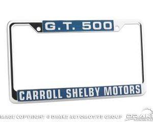 Carroll Shelby Motors G.T. 500 License Plate Frame