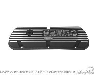 64-73 Cobra, Outline Letters Black Valve Covers