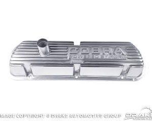 64-73 Cobra Block Letters Polished Valve Covers