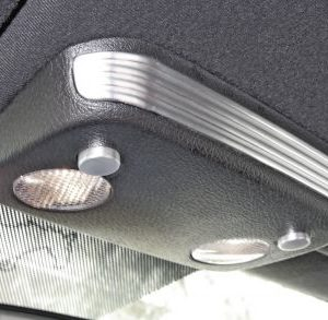 Aluminum Map Light Accents without Active Anti-theft